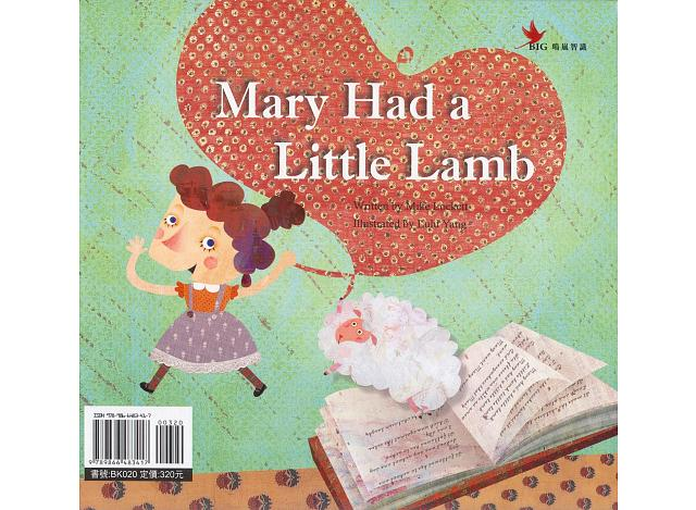 Mary Had A Little Lamb Chinese English Storybook Amp Cd